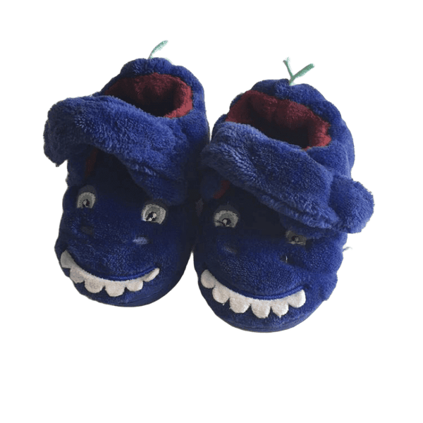 Blue Dinosaur Boys Soft Slippers Shoes
