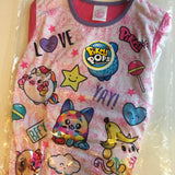 Brand New Pikmi Pops Surprise Girls Official Long Pyjamas Pink Love Pikmi Yay - Girls 7-8yrs