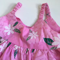 Hawaii Sun Top Pink with White Flowers - Girls 12m