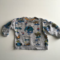 Save The World Love our Planet Print Grey Long Sleeved Top - Boys 6-9m