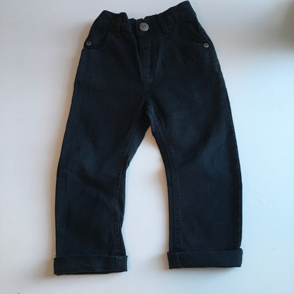 Next Boys Black Jeans with Stretch Waist - Boys 12-18m