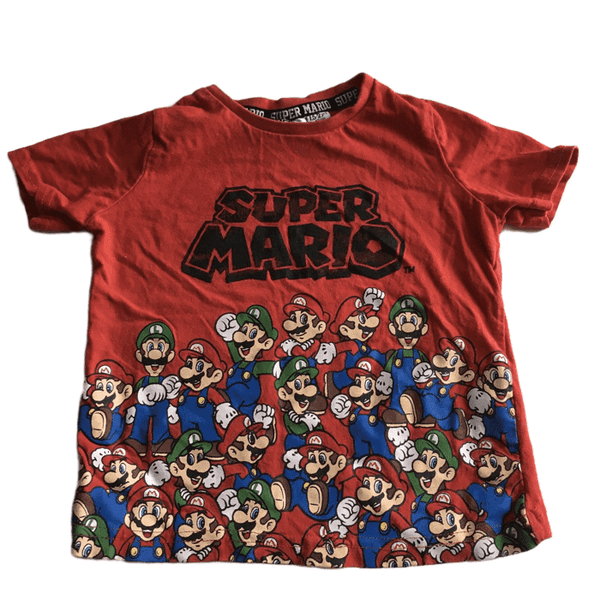 Super Mario Boys Red T-Shirt - Boys 18-24m