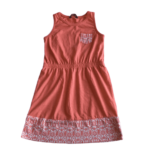 George Girls Orange Sleeveless Summer Sun Dress - Girls 5-6yrs