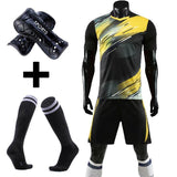 Adult Kids Soccer Jersey Set survetement Football Kit uniforms custom Futbol Training Shirts Short