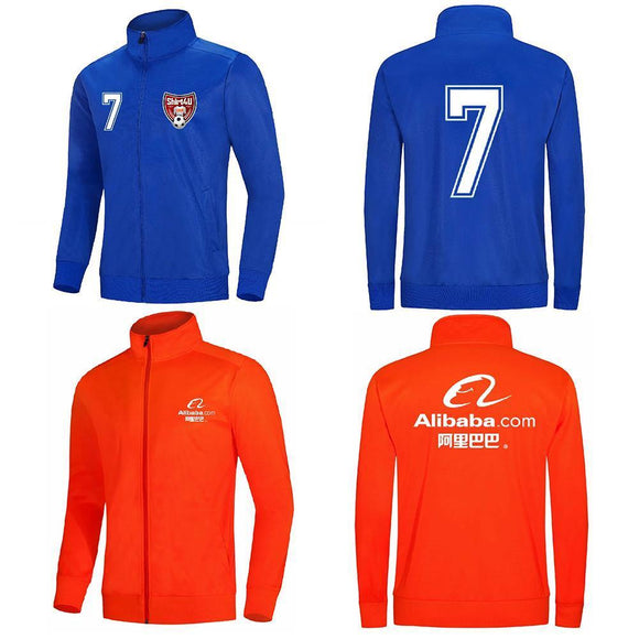 Men's Kids Soccer Jerseys Sets Survetement Football Running Jackets Fitness Sports Coat Gym Soccer