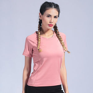 Women Gym Yoga Top T-shirt For Women yoga Thin clothes Running Fitness Workout T-shirt Elastic Yoga