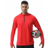 Long Sleeve Sports Shirt Men Outdoor Sweatshirt Football Jerseys Sports Jogging Cycling Top Jackets