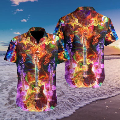Hawaiian Aloha Shirts Guitar Fantastic Color #109H