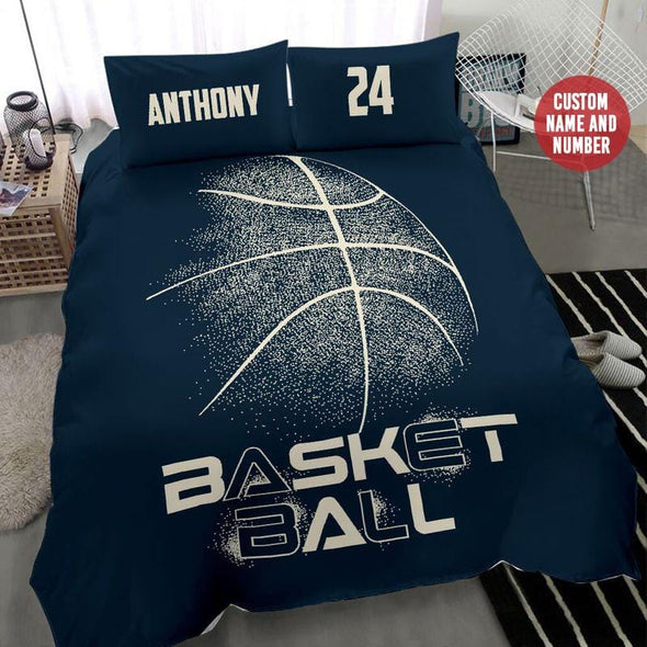 Basketball Graphic Custom Duvet Cover Bedding Set with Your Name and Number #711H