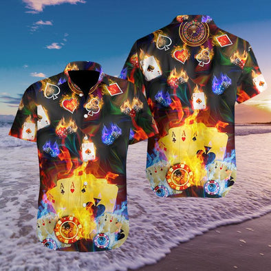 Amazing Gambling Hawaiian Aloha Shirts #H