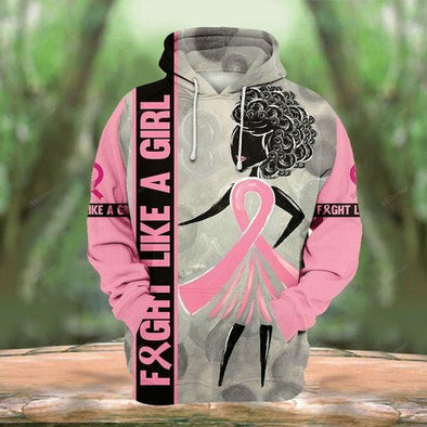 Strong Pink Warrior BC Awareness Hoodie 3D All Over Print