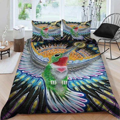 Peaceful Hummingbird Duvet Cover Bedding Set