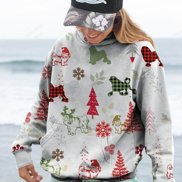 Lowchen Dog Love Christmas Hoodie 3D All Over Print