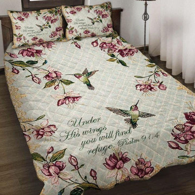 Under His Wings Hummingbird Quilt Bedding Set Quilt Bed Set