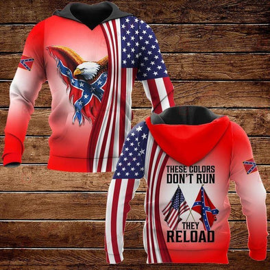 Veteran These Color Don't Run They Reload red Hoodie 3D All Over Print