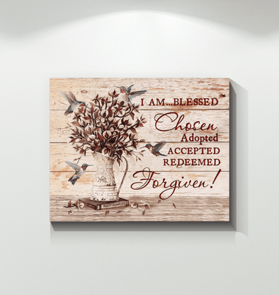Hummingbird Forgiven Canvas Wall Art