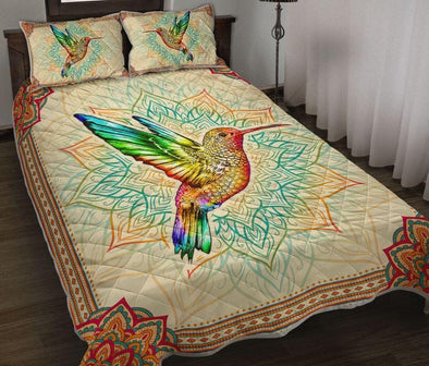 Hummingbird Mandala Native Quilt Bed Set