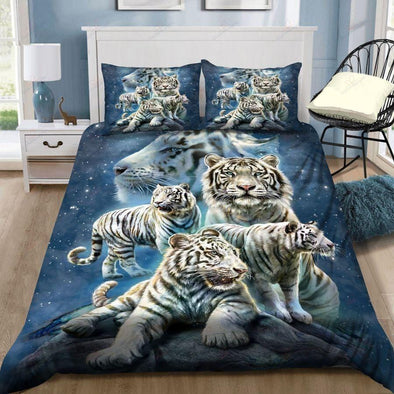 Tigers Family Galaxy Duvet Cover Bedding Set
