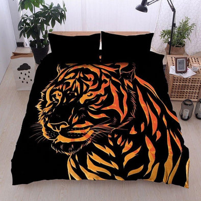 Tiger Line Graph Custom Name Duvet Cover Bedding Set