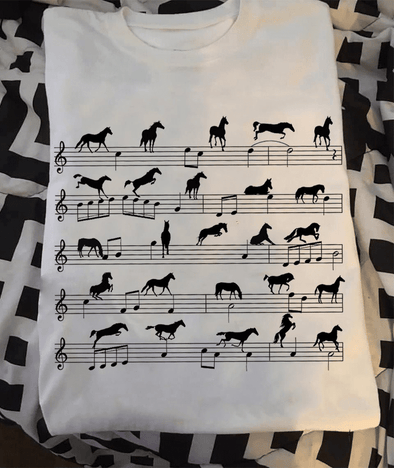 Horse Music Note T-shirt