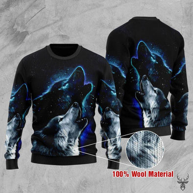 Wolf Howling Sweater