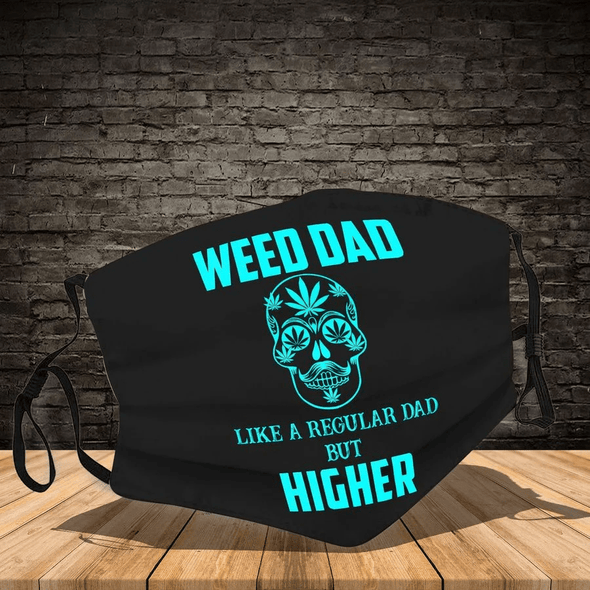 Skull Weed Dad Full printed Face Mask