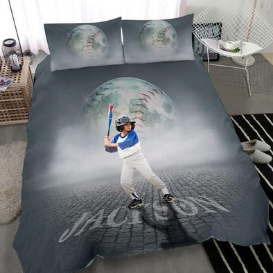 Baseball Player Smoke Custom Duvet Cover Bedding Set #1410L