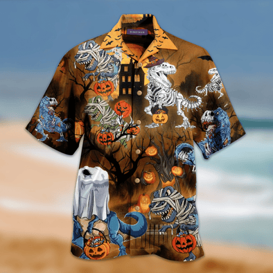 Amazing Halloween Dinosaur Hawaiian Aloha Shirts #2909v