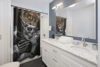 King and Queen Skull Shower Curtain
