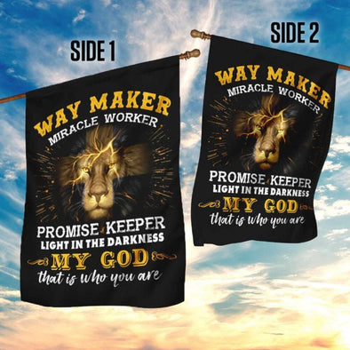 Way Maker Miracle Worker God Flag