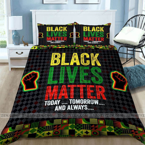Black Lives Matter Today Tomorrow And Always African Pattern Duvet Cover Bedding Set