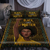 Black Lives Matter Black Afro Girl African Pattern Duvet Cover Bedding Set #27V