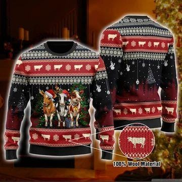 Cow Christmas Sweater