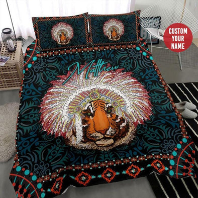 Tiger Native Custom Name Duvet Cover Bedding Set #2007H