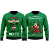 I Touch My Elf Elfie Ugly Christmas Sweater Sweatshirt Funny Matching Couple Set #V