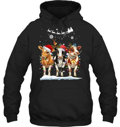 Cow Christmas So Cute Custom name Shirt #V