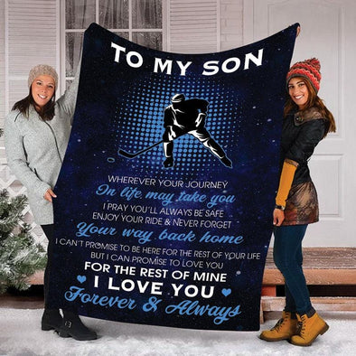 A Letter To Son Hockey Player Blanket
