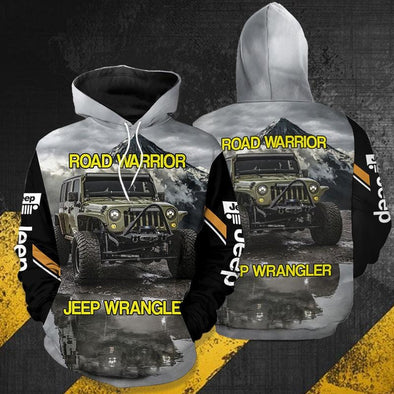 Road Warrior Jeep Wrangler Hoodie 3D All Over Print #2310h