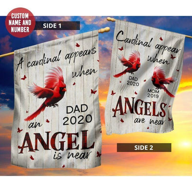 Angels Among Us Cardinals Memorial Personalized Garden Flag #1508L
