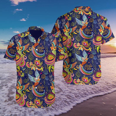 Colorful Hummingbird Mandala Summer Vibe Hawaiian Aloha Shirts #2808H