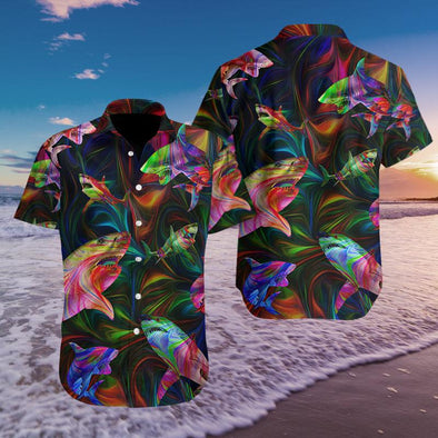Hawaiian Aloha Shirts Fantastic Shark #2808H