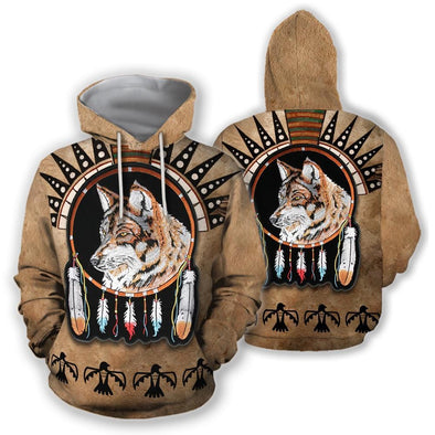 Dreamcatcher Wolf Eagle Hoodie 3D All Over Print