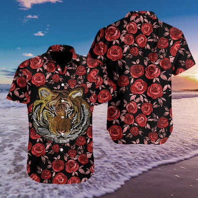 Hawaiian Aloha Shirts Tiger Rose #3108H