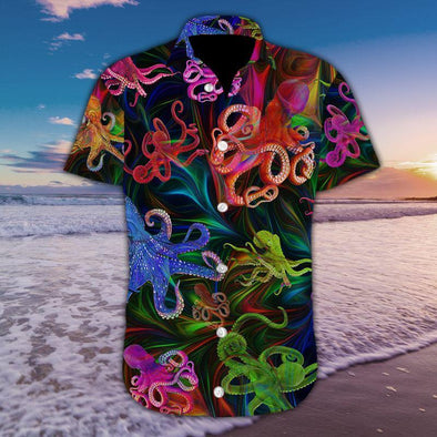 Colorful Octopus Tropical Full Printing Hawaiian Shirts #179H