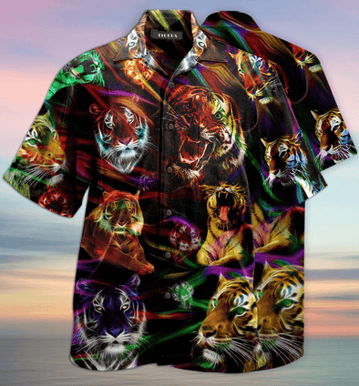 Tiger Hawaiian Aloha Shirts #V