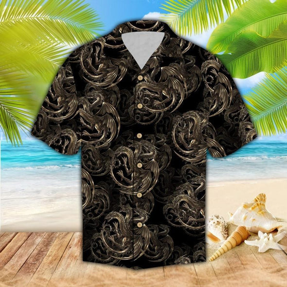 Hawaiian Aloha Shirts 3 Heads Dragons