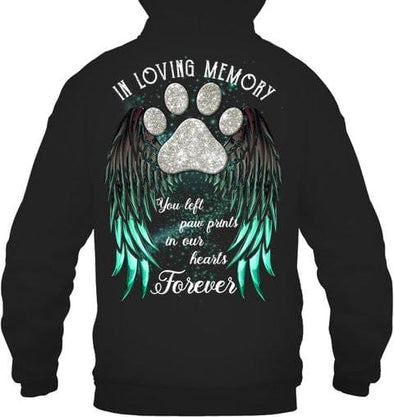 Dog Lover Personalized Customizable Design In Loving Memories You Left Your Paw Prints In Our Hearts Forever Custom name Shirt #V