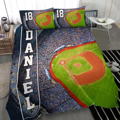 Baseball Stadium Custom Duvet Cover Bedding Set with Your Name
