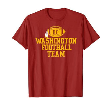 Washington Football Team Retro Red T-shirt #H