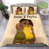 Black Sis And Besties Custom Name Duvet Cover Bedding Set #608DH